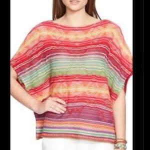 👽Ralph Lauren Serape Stripe Knit Blouse